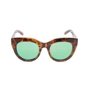 NEW Le Specs Air Heart Green and Brown sunglasses